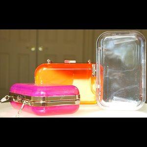 Jelly box bags clutch crossbody bag